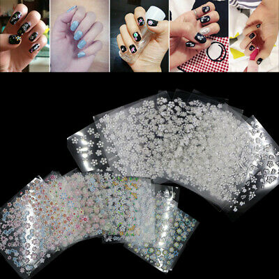 50Sheets Mix Style Finger Toe Nail Art Decoration Flower Floral Stickers Decals