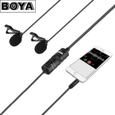 BOYA BY-M1DM Smartphone Lavalier Dual-Head Microphone For DSLR Camera Camcorder