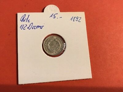 Chile 1/2 Dicemo 1892 Silber
