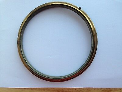 antique brass bezel for clock  18.5 outer 16 cm inner   parts no glass