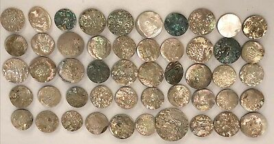 Lot Of 25 Old Stock Mother Of Pearl – Abalone Shell Cutouts (#4)