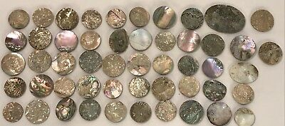 Lot Of 25 Old Stock Mother Of Pearl – Abalone Shell Cutouts (#9)
