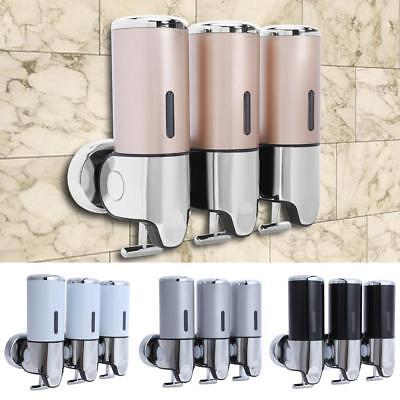 1500ML Bathroom Shower Soap Shampoo Gel Dispenser Pump Wall Mounted 3 Bottles