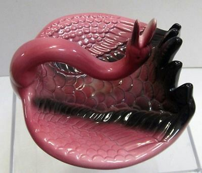 "Flamingo ashtray or soap dish card tray ceramic  7-1/2"" c1983 very tall"