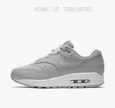 pretty nice c673f 2586f ... discount code for nike air max 1 se glitter wolf grey white pure  platinum girls womens