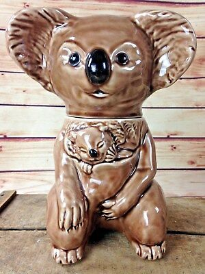 Vintage Koala Bear & Baby Cookie Jar #216 USA McCoy Ceramics Animal