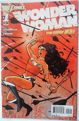 Wonder Woman #1 Red Variant New 52 Brian Azzarello Cliff Chiang (2011)