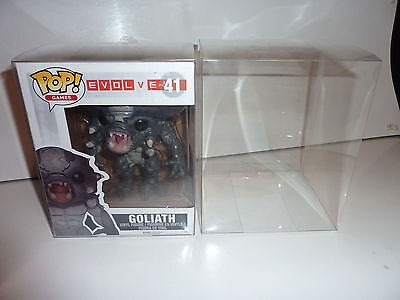 5 x  6'' vinyl DISPLAY Cases.for funko pop figures.DELUXE hulkbuster/hagrid.only