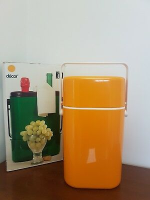 Retro Decor BYO Insulated 2 Wine Cooler in Yellow in EC with Original Box.