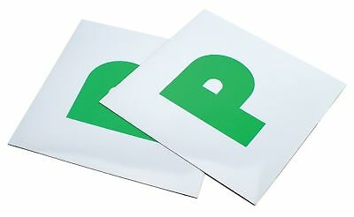 2 X New Magnetic Passed Pass New Driver Green P Plate Plates For Car Vehicle
