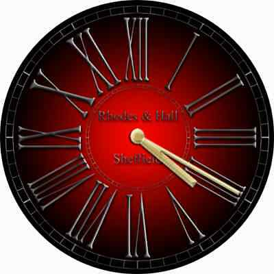 NOVELTY WALL CLOCK - Gothic Red and Black Design (2) - Decorative Wall Clock