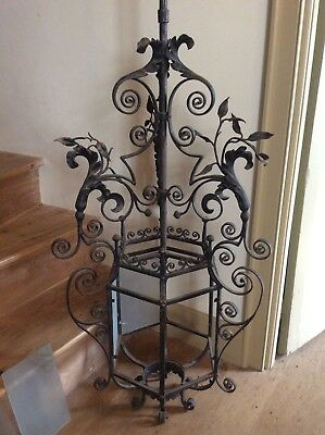 A very fine 18th century style wrought iron stately home hall lantern c1900