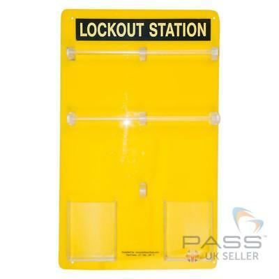 Lockout Tagout Station - fits 20 Padlocks - Without Accessories / UK Stock