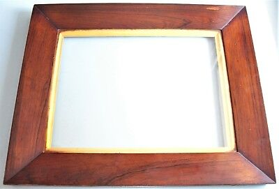 Small Antique Georgian Rosewood Sully Gilt Slip Picture Frame Old Glass C.1830