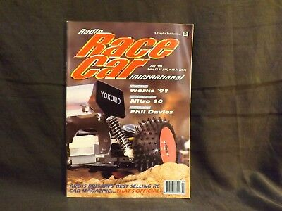 Radio Race Car International Magazine July 1991. Schumacher Nitro 10. Works '91.