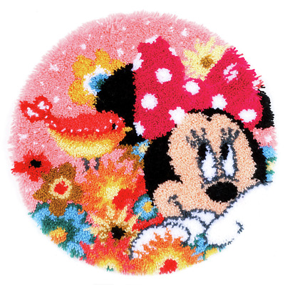 Disney Minnie Mouse 'Psst I've a Secret' Shaped Rug Latch Hook Kit