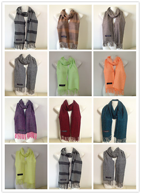 Wholesale 12Pcs 100% Cashmere Scarf Made In Scotland Houndstooth Design Lot