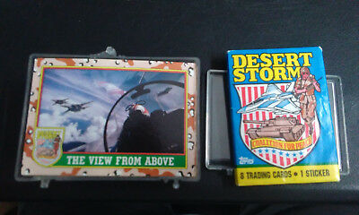 1991 TOPPS  DESERT STORM COMPLETE SET OF 88 CARDS & Extra Opened Pack!