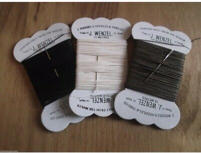 Plaiting Cotton Waxed Thread  On Card With Needle, Mane, Tail Showing Black
