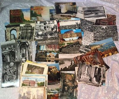Vintage Group of 100+ Postcards Europe France Grand Canyon 1950s & 60's