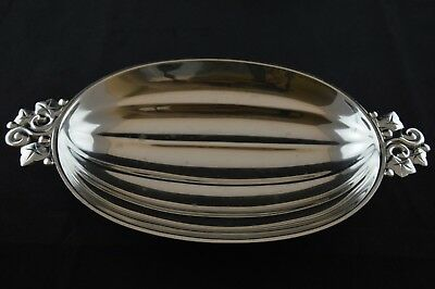 """Tiffany & Co Sterling Silver Melon Fruit Footed Bowl Vine Handles 22974 - 10"""""""