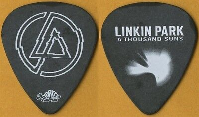 Linkin Park authentic 2011 A Thousand Suns concert tour stage black Guitar Pick