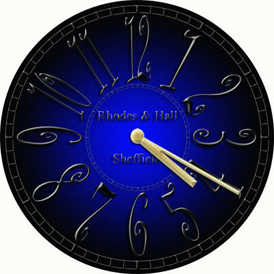 NOVELTY WALL CLOCK - Gothic Blue and Black Design (3) - Decorative Wall Clock