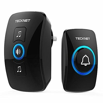 Wireless Doorbell, TeckNet Waterproof Wireless Door Bell Chime Kit with LED