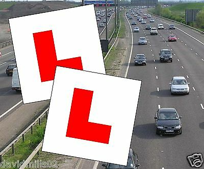 Learner Drivers Magnetic L Plates 100% magnet grip