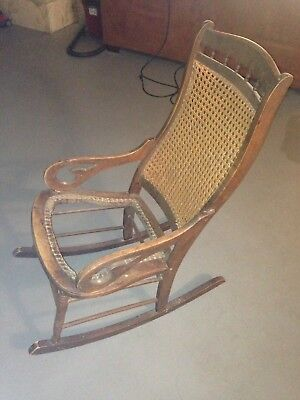 Bon Antique Cane Back Rocking Chair