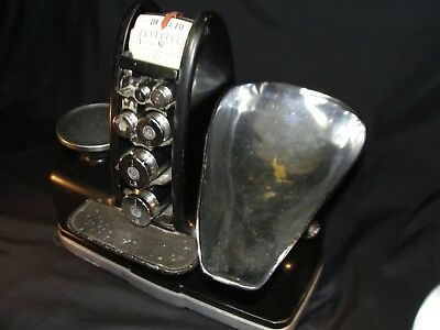 Vintage DETECTO Scale Brooklyn NY Series 1D Weights Candy Store Art Deco