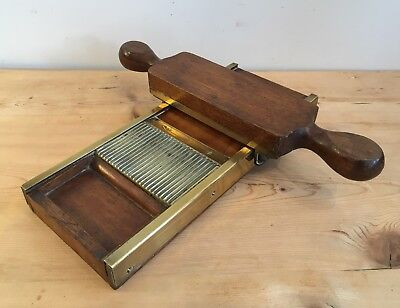 Antique 19th Century Apothecary Chemist Mahogany Pill Press Roller and Board