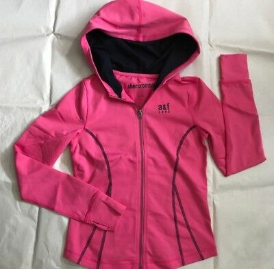 New Abercrombie Kids Girls Active Hoodie Pink/Navy, Size M, L