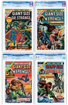 Marvel Giant-Size CGC-Graded Group of 4 (Marvel, 1975).