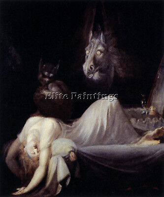 Fuseli Henry The Nightmare Artist Painting Handmade Oil Canvas Repro Art Deco