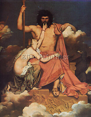 Ingres Jupiter And Thetis Artist Painting Handmade Oil Canvas Repro Art Deco