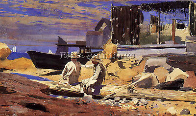 Homer Winslow Waiting For The Boats Artist Painting Oil Canvas Repro Art Deco