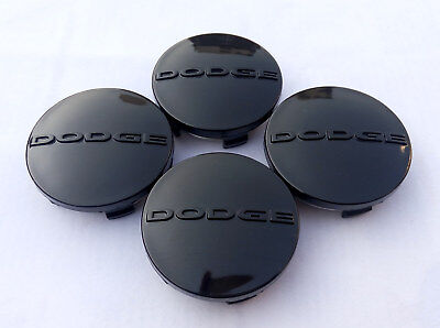 4pcs 2.5 Inch Black Center Wheel Hub Cover Caps Rim Emblem Logo Fit For Dodge
