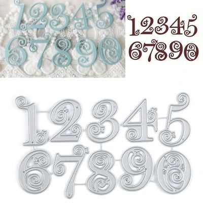 Lace Numbers Metal Cutting Dies Stencil Scrapbooking Card Paper Embossing Craft