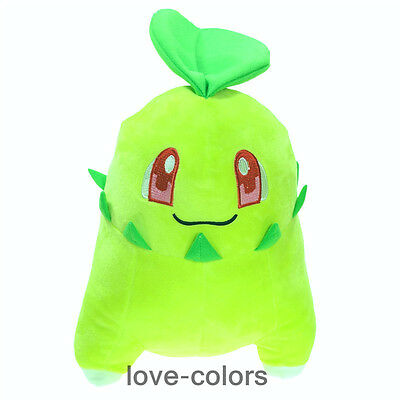 "New Pokemon Center Chikorita Stuffed Soft Plush Toy Doll Pokedoll anime 12"" Gift"