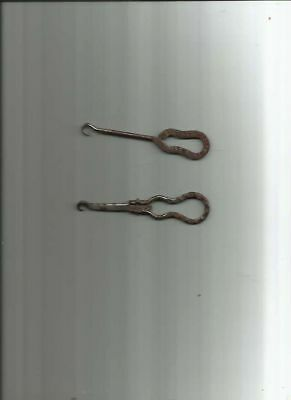 2 BUTTON HOOKs  ENDICOTT JOHNSON GOOD SHOES & MANDOLIN DEPOSE