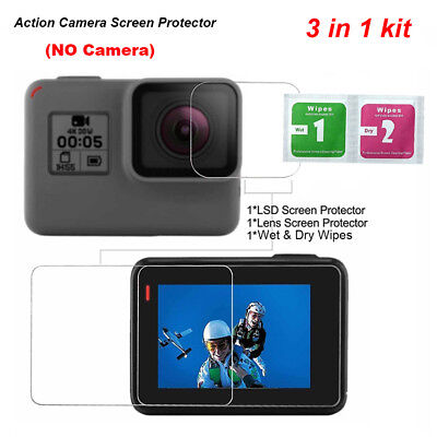 Tempered Glass Protector HD Film For Go pro Hero 5 Camera Lens LCD Screen