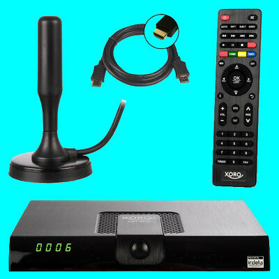 Xoro HRT 8724 Full HD DVB-T2 Receiver + ANTENNE + FREENET H.265 PVR USB (8720)