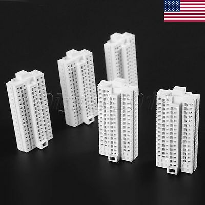 US STOCK White 23-Story H-72mm Modern Tall Building Office 1:500 Outland Model