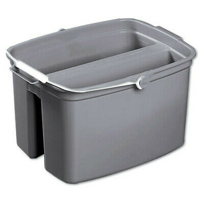 Rubbermaid 17 qt. Double Utility Pail (Gray) 2617GRA NEW