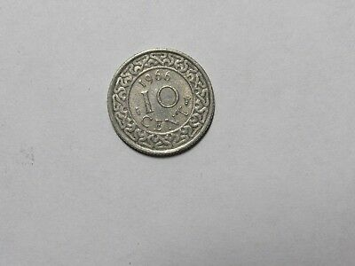 Old Suriname Coin - 1966 10 Cents - Circulated