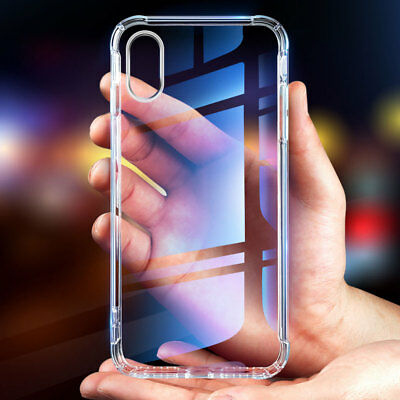 Shockproof Clear Gel TPU Silicone Back Case Cover For iPhone XS Max XR 6.1''2018