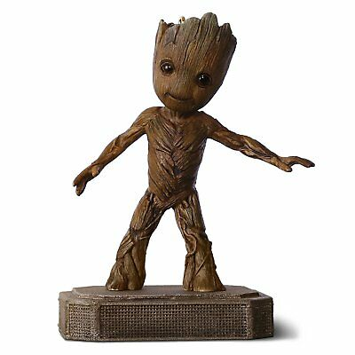 2017 Hallmark Orn. Groovin' Groot - Guardians of the Galaxy 2  -Bumps on Lid.