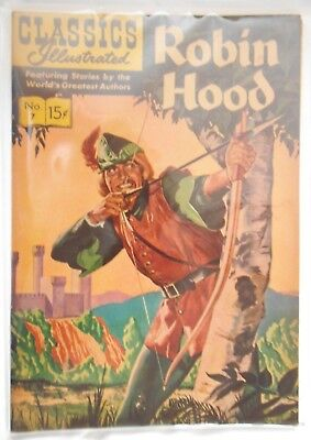 classic illustrated. robin hood.very fine