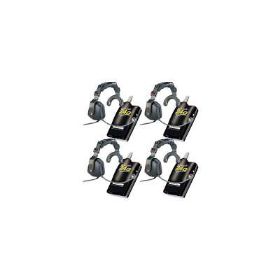 Eartec 4x Simultalk 24G Full-Duplex Beltpack Radios with 4x Ultra S Headset